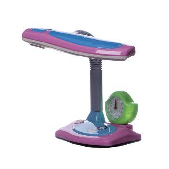Лампа настольная детская с часами SunLight 3105 розовая